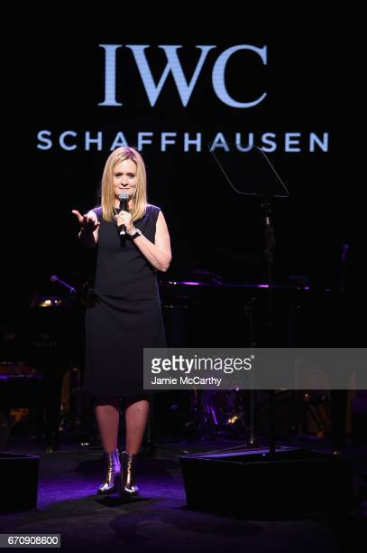 Comedian Samantha Bee speaks onstage during the exclusive gala event 'For the Love of Cinema' during the Tribeca Film Festival hosted by luxury watch...