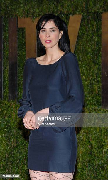 Comedian Sarah Silverman arrives at the 2010 Vanity Fair Oscars® Party in West Hollywood