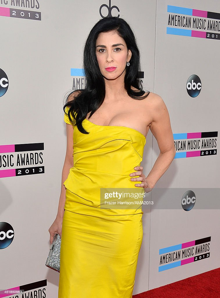 Comedian <a gi-track='captionPersonalityLinkClicked' href=/galleries/search?phrase=Sarah+Silverman&family=editorial&specificpeople=241299 ng-click='$event.stopPropagation()'>Sarah Silverman</a> attends the 2013 American Music Awards at Nokia Theatre L.A. Live on November 24, 2013 in Los Angeles, California.