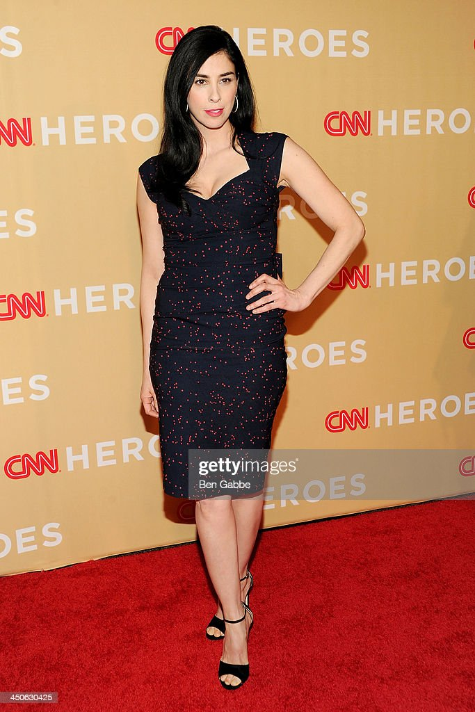Comedian <a gi-track='captionPersonalityLinkClicked' href=/galleries/search?phrase=Sarah+Silverman&family=editorial&specificpeople=241299 ng-click='$event.stopPropagation()'>Sarah Silverman</a> attends the 2013 CNN Heroes at the American Museum of Natural History on November 19, 2013 in New York City.