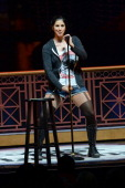 Comedian Sarah Silverman performs onstage at Sarah's Pro Choice hosted by Sarah Silverman with Reggie Watts Natasha Leggero Marc Maron and Kyle...