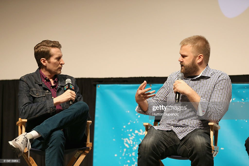 comedian scott aukerman l and creatorexecutive producer robert kirkman speak onstage during - Executive Producer Music