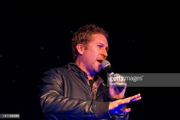 Comedian Scott Aukerman hosts Comedy Bang Bang LIVE Comedy Podcast during the 2012 SXSW Music Film Interactive Festival at Esther's Follies on March...