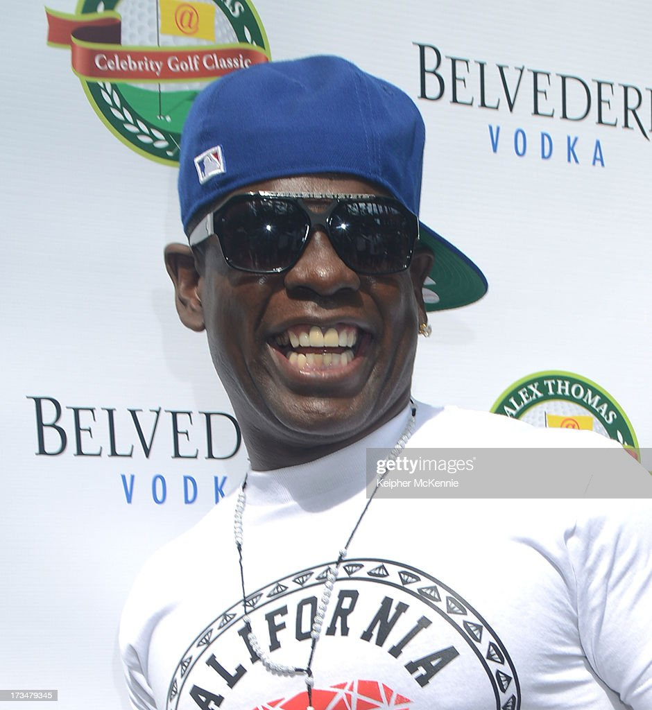 Comedian Scruncho arrives to the 4th Annual Alex Thomas Celebrity Golf Weekend Pool Party hosted by NFL's Jacoby Jones of the Baltimore Ravens at Hollywood Roosevelt Hotel on July 14, 2013 in Hollywood, California.