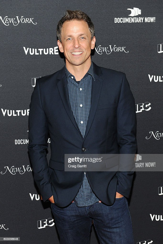 Comedian Seth Meyers attends as IFC, New York Magazine and Vulture host the premiere of 'Documentary Now' at the New Museum on September 12, 2016 in New York City.