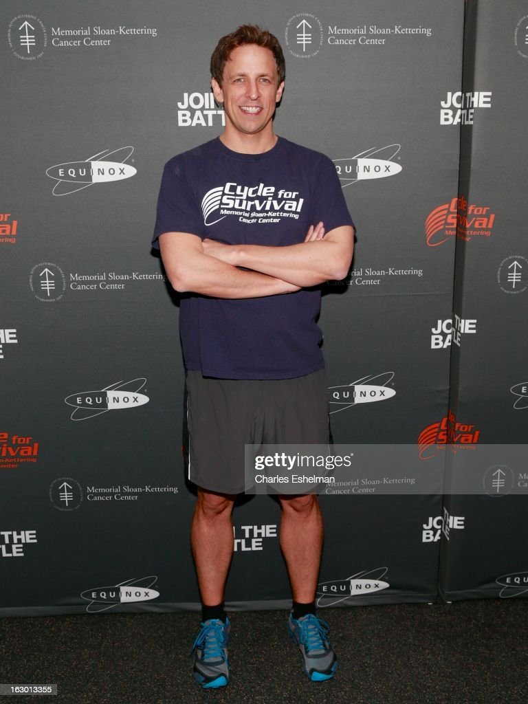 Comedian Seth Meyers attends the 2013 Cycle For Survival Benefit at Equinox Rock Center on March 3, 2013 in New York City.