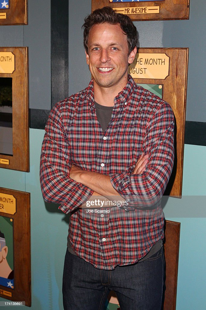 Comedian Seth Meyers attends 'The Awesomes' VIP After-Party sponsored by Hulu and Xbox at Andaz on July 20, 2013 in San Diego, California.