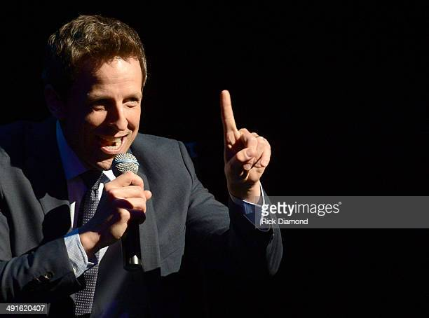 Comedian Seth Meyers performs as part of the Wild West Comedy Festival presented by Bud Light at TPAC Jackson Hall on May 16 2014 in Nashville...
