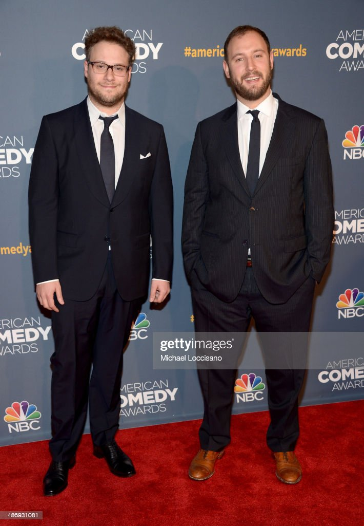 Comedian <a gi-track='captionPersonalityLinkClicked' href=/galleries/search?phrase=Seth+Rogen&family=editorial&specificpeople=3733304 ng-click='$event.stopPropagation()'>Seth Rogen</a> and director <a gi-track='captionPersonalityLinkClicked' href=/galleries/search?phrase=Evan+Goldberg&family=editorial&specificpeople=4455825 ng-click='$event.stopPropagation()'>Evan Goldberg</a> attend 2014 American Comedy Awards at Hammerstein Ballroom on April 26, 2014 in New York City.