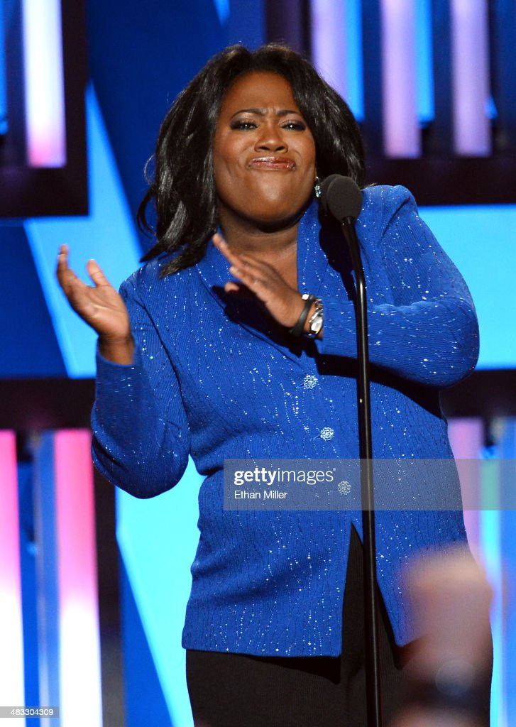 Comedian Sheryl Underwood speaks onstage during ACM Presents: An All-Star Salute To The Troops at the MGM Grand Garden Arena on April 7, 2014 in Las Vegas, Nevada.