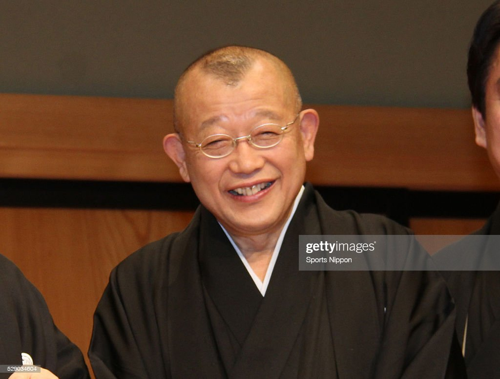 Comedian Sh��fukutei Tsurube attends the TBS special program press conference on December 24, 2015 in Tokyo, Japan.
