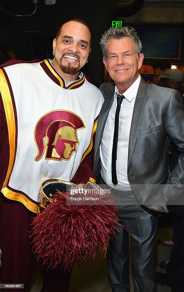 Comedian Sinbad and composer David Foster attend Yamaha's 125th Anniversary Live Around the World Dealer Concert at the Hyperion Theater on January 25, 2013 in Anaheim, California.