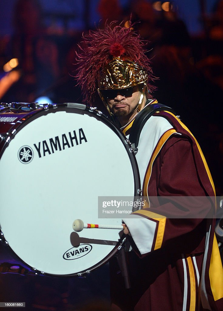 Comedian Sinbad celebrating Yamaha's 125th Anniversary Live Around the World Dealer Concert performs at the Hyperion Theater on January 25, 2013 in Anaheim, California.