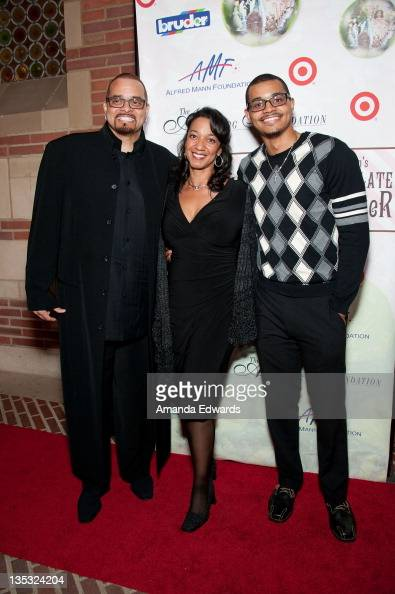 Comedian Sinbad his wife Meredith...