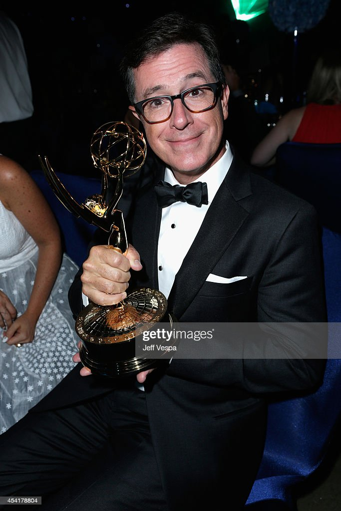 Comedian Stephen Colbert attends the 66th Annual Primetime Emmy Awards Governors Ball held at Los Angeles Convention Center on August 25, 2014 in Los Angeles, California.