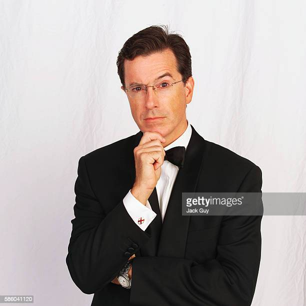 Comedian Stephen Colbert is photographed for Emmy Magazine at the 55th Annual Emmy Awards on September 21 2003 in Los Angeles California