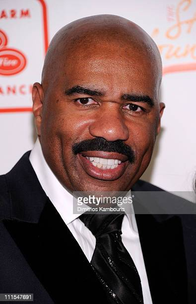 Comedian Steve Harvey attends the 2nd annual Steve Harvey Foundation Gala at Cipriani Wall Street on April 4 2011 in New York City