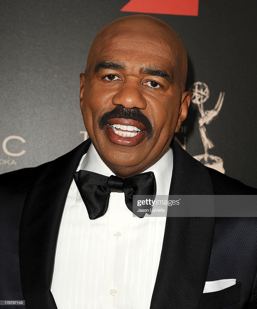 Comedian <a gi-track='captionPersonalityLinkClicked' href=/galleries/search?phrase=Steve+Harvey&family=editorial&specificpeople=210865 ng-click='$event.stopPropagation()'>Steve Harvey</a> attends the 40th annual Daytime Emmy Awards at The Beverly Hilton Hotel on June 16, 2013 in Beverly Hills, California.