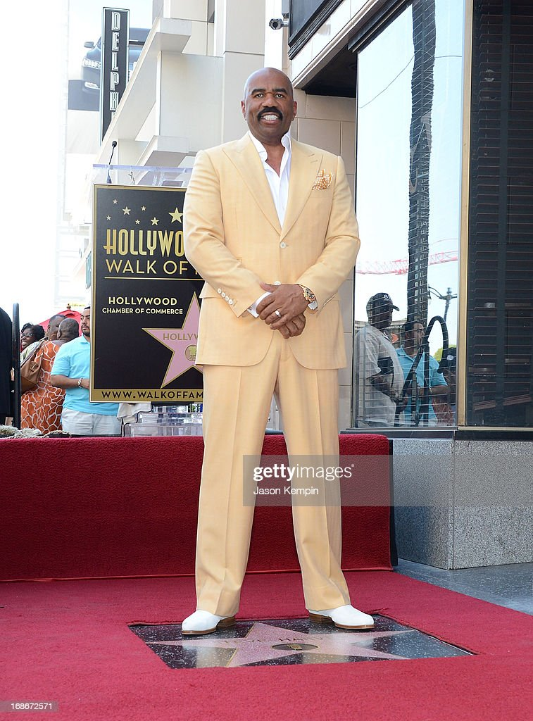 Comedian Steve Harvey is honored on The Hollywood Walk Of Fame on May 13, 2013 in Hollywood, California.
