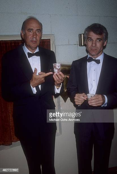 Comedian Steve Martin attends an event with director Carl Reiner in circa1978 in Los Angeles California