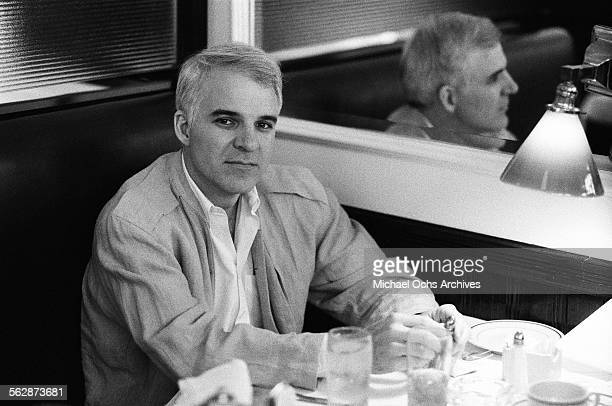Comedian Steve Martin is interviewed at a diner in Los AngelesCalifornia
