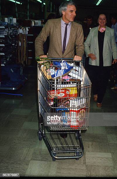 Comedian Steve Martin pushes a shopping cart in Los AngelesCalifornia