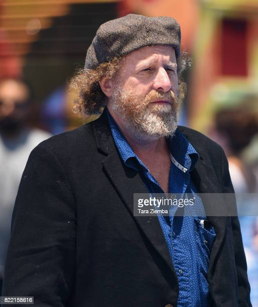 Comedian Steven Wright attends the premiere of Columbia Pictures and Sony Pictures Animation's 'The Emoji Movie' at Regency Village Theatre on July...