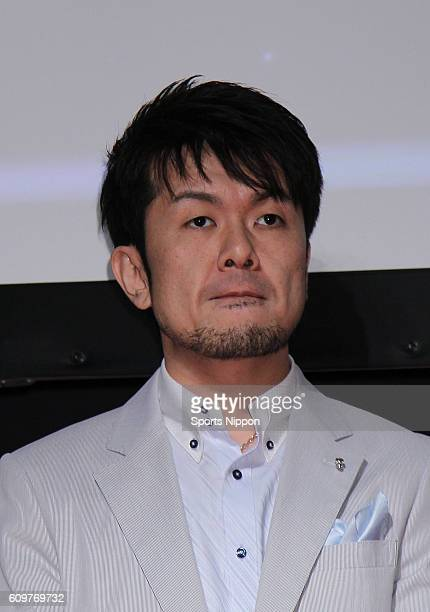 Comedian Teruyuki Tsuchida attends the 'SD Gundam Capsule Fighter Online' promotional event on April 23 2010 in Tokyo Japan