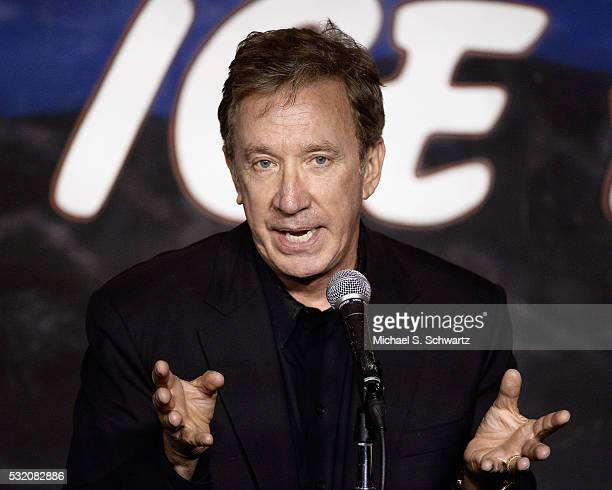 Comedian Tim Allen performs during his appearance at The Ice House Comedy Club on May 17 2016 in Pasadena California