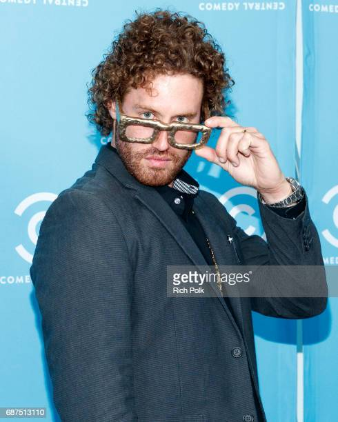 Comedian TJ Miller of 'The Gorburger Show' attends the Comedy Central Press Day on May 23 2017 in Los Angeles California