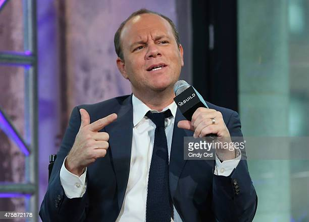 Comedian Tom Papa discusses his new game show 'Boom' at AOL Studios on June 4 2015 in New York City