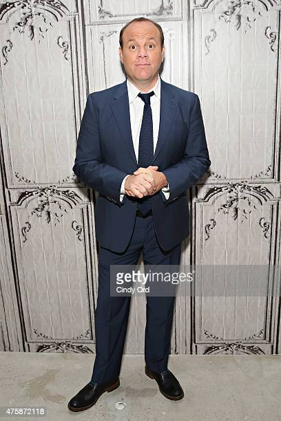 Comedian Tom Papa poses for a photo before discussing his new game show 'Boom' at AOL Studios on June 4 2015 in New York City