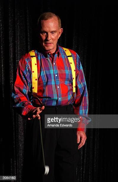 Comedian Tom Smothers performs at the Comedy Store on June 3 2003 in Los Angeles California
