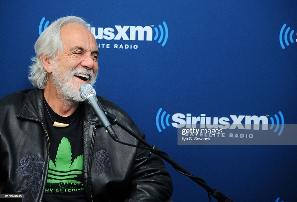 Comedian Tommy Chong attends 'SiriusXM's Town Hall with Cheech & Chong' moderated by Artie Lange at the SiriusXM Studios on April 25, 2013 in New York City.