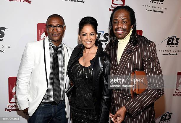 Comedian Tommy Davidson and recording artists Sheila E and Verdine White attend the Eighth Annual GRAMMY week event honoring threetime GRAMMY Winner...