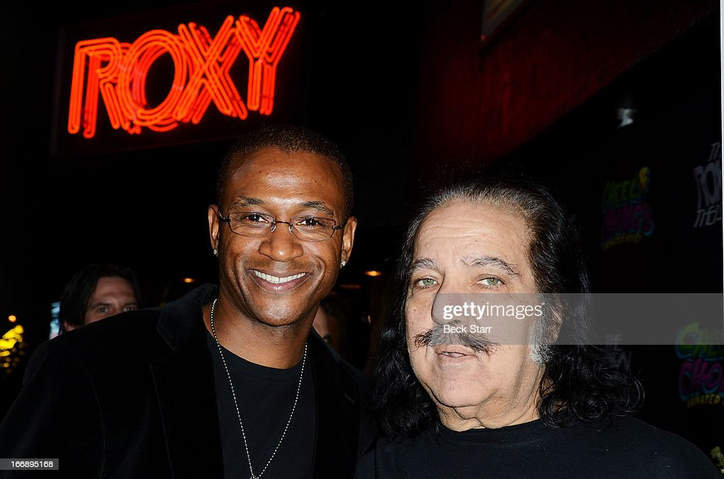 Comedian <a gi-track='captionPersonalityLinkClicked' href=/galleries/search?phrase=Tommy+Davidson&family=editorial&specificpeople=619191 ng-click='$event.stopPropagation()'>Tommy Davidson</a> and <a gi-track='captionPersonalityLinkClicked' href=/galleries/search?phrase=Ron+Jeremy&family=editorial&specificpeople=206455 ng-click='$event.stopPropagation()'>Ron Jeremy</a> arrive at 'Cheech And Chong's Animated Movie!' VIP green carpet premiere at The Roxy Theatre on April 17, 2013 in West Hollywood, California.