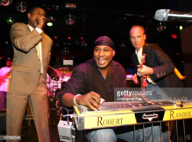 Comedian Tommy Davidson performs with Robert Randolph and the Family Band during 'Playing for Laughs' A Benefit to Build a Playground for the Junius...