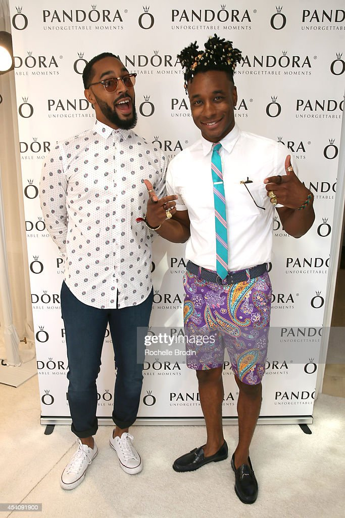 Comedian Tone Bell and model Norris Ford attend the HBO Luxury Lounge featuring PANDORA at Four Seasons Hotel Los Angeles at Beverly Hills on August...