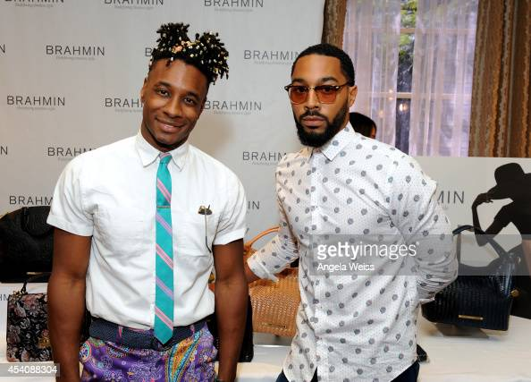 Comedian Tone Bell and Noris Ford attends the HBO Luxury Lounge featuring PANDORA at Four Seasons Hotel Los Angeles at Beverly Hills on August 23...