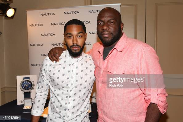 Comedian Tone Bell and Omar J Dorsey attend the HBO Luxury Lounge featuring PANDORA at Four Seasons Hotel Los Angeles at Beverly Hills on August 23...