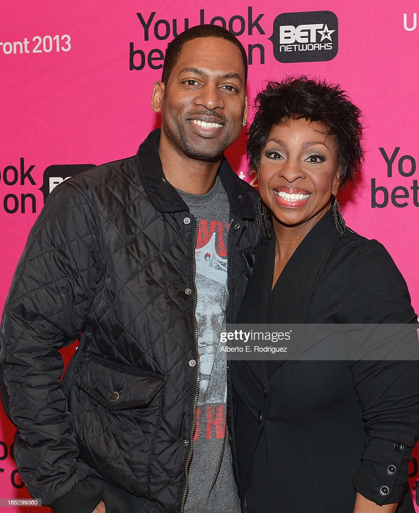 Comedian Tony Rock and recording artist Gladys Knight attend the BET Networks' 2013 Los Angeles Upfront at Montage Beverly Hills on April 2, 2013 in Beverly Hills, California.