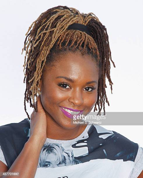 Comedian Torrei Hart poses after her performances at The Ice House Comedy Club on October 22 2014 in Pasadena California