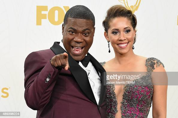 Comedian Tracy Morgan and Megan Morgan pose in the press room at the 67th Annual Primetime Emmy Awards at Microsoft Theater on September 20 2015 in...