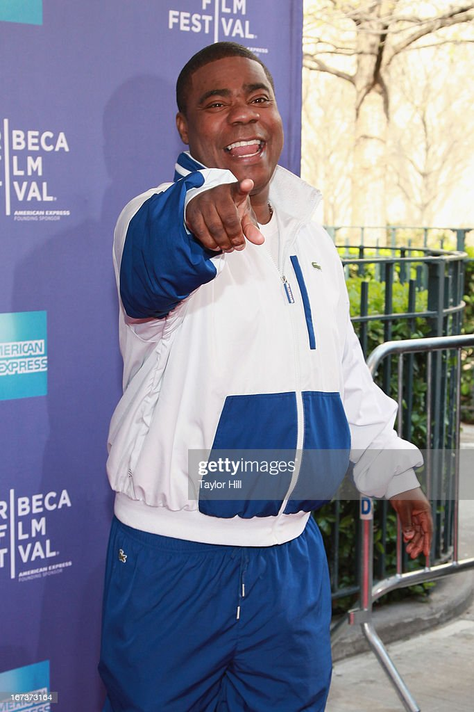 Comedian <a gi-track='captionPersonalityLinkClicked' href=/galleries/search?phrase=Tracy+Morgan&family=editorial&specificpeople=182428 ng-click='$event.stopPropagation()'>Tracy Morgan</a> attends Beyond The Screens: The Artist's Angle during the 2013 Tribeca Film Festival at SVA Theater on April 24, 2013 in New York City.