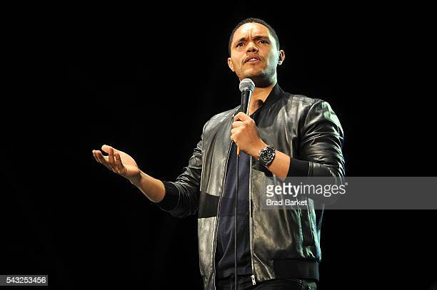 Comedian Trevor Noah attends The Daily Show with Trevor Noah StandUp in the Park in Central Park on June 26 2016 in New York City