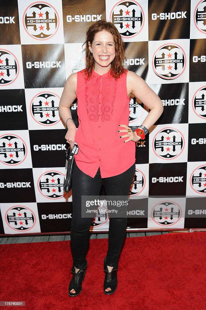 Comedian Vanessa Bayer attends G-Shock Shock The World 2013 at Basketball City on August 7, 2013 in New York City.