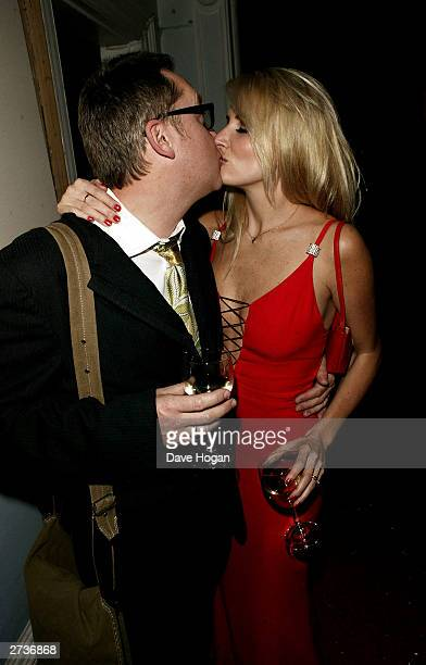 Comedian Vic Reeves and wife Nancy attend the aftershow party for the Love Actually film premiere at the IN and Out Club on November 16 2003 in London