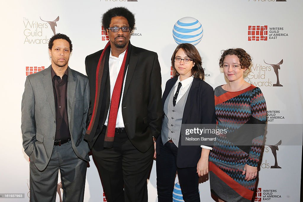 Comedian W. Kamau Bell (second L) attends the 65th annual Writers Guild East Coast Awards at B.B. King Blues Club & Grill on February 17, 2013 in New York City.