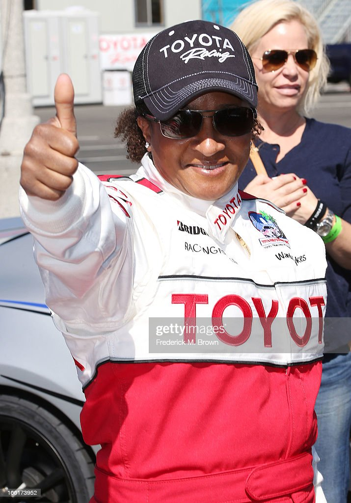 Comedian Wanda Sykes attends the 37th Annual Toyota Pro/Celebrity Race-Practice Day on April 9, 2013 in Long Beach, California.