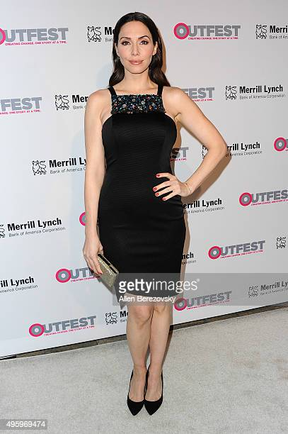 Comedian Whitney Cummings arrives at the 2015 Outfest Legacy Awards at Vibiana on November 5 2015 in Los Angeles California